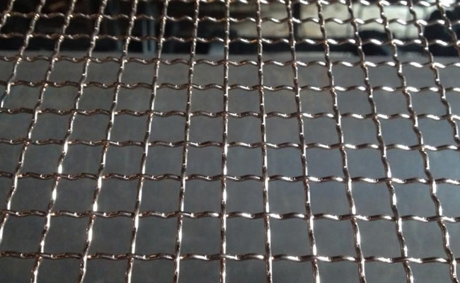 Crimped wire mesh iron stainless steel